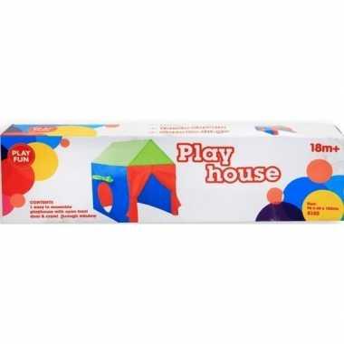 Gekleurd speelhuisje voor kinderen 96 cm speeltent