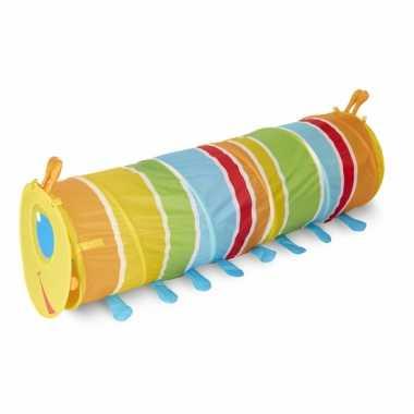 Kinder  Gekleurde rups speeltunnel 144 cm speeltent