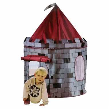 Kinder kasteel speeltent grijs rood