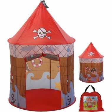 Kinder rode piraten speeltent