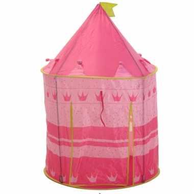 Kinder roze prinsessen speeltent