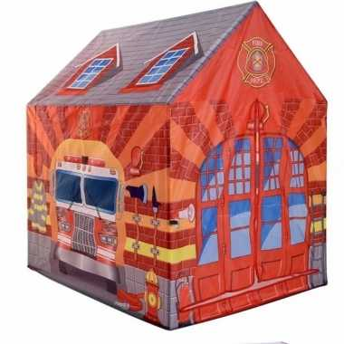 Kinder speelgoed speeltent brandweerkazerne 102 cm