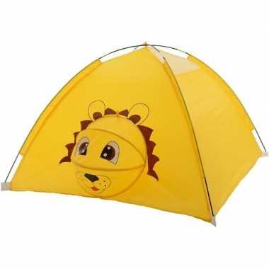 Kinder speelgoed speeltent leeuw dier/amfibie120 x 120 x 80 cm