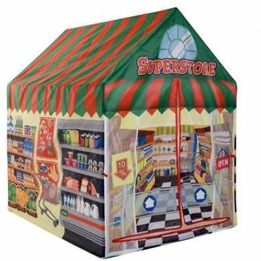 Kinder speelgoed speeltent supermarkt winkel 102 cm