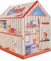 Kinder speelgoed speeltent dierenwinkel 102 cm
