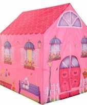 Kinder speelgoed speeltent roze prinsessen huis 102 cm