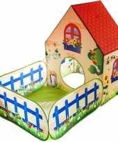 Kinder speeltent speelhuis tuinhuis voor binnen en buiten 150 x 90 x 110 cm